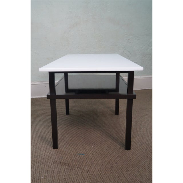 Mid-Century Modern Mid Century Lacquer Base Console Table For Sale - Image 3 of 10