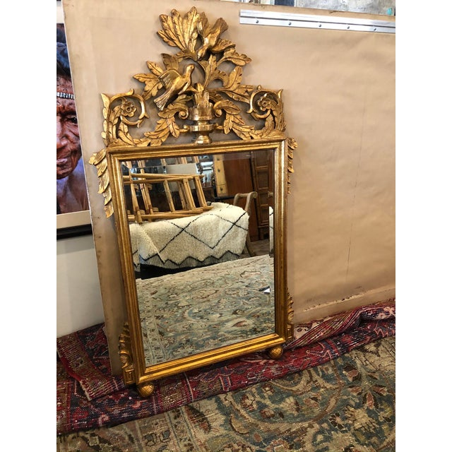 Stunning gold leaf antique French mirror. Traidional ornate baroque style with bevelled mirror. Ready to hang in your...