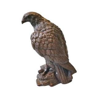 1950s Vintage Mid Century Syroco Wood Eagle Hawk Figurine For Sale