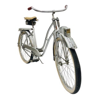 Vintage Silver Queen Bicycle For Sale
