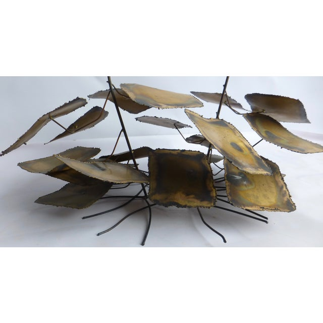 Signed Friedle Metal Wildflower Sculpture - Image 7 of 11