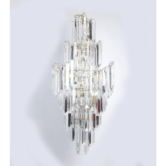 7-Tier Brass & Lucite Chandelier - Image 3 of 11