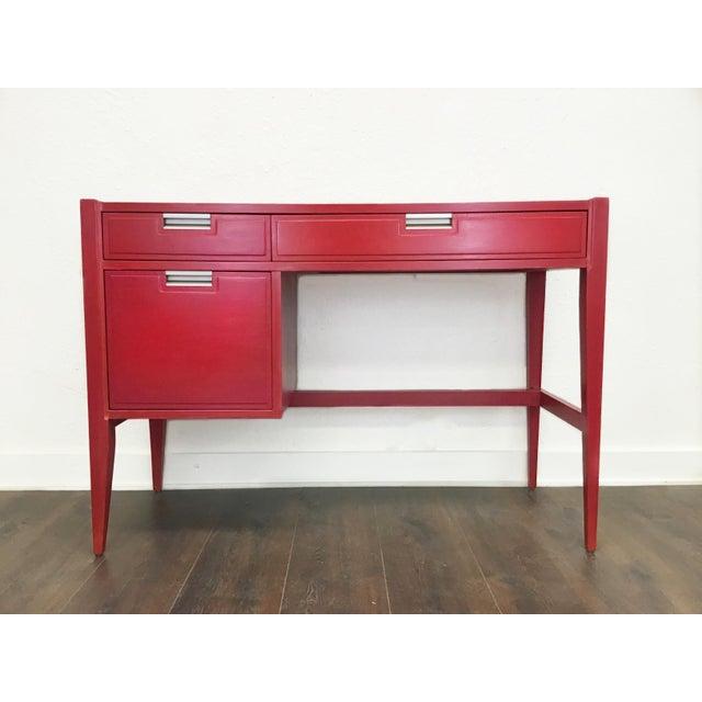 Wood 1960s Danish Modern Basic Witz Writing Desk For Sale - Image 7 of 8