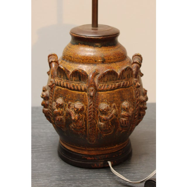 Brown East Indian Elephant Lamps- A Pair For Sale - Image 8 of 11
