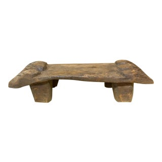 Naga Antique Tribal Carved Wooden Stool For Sale