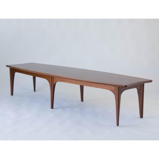 American Walnut & Rosewood Surfboard Coffee Table - Image 7 of 7