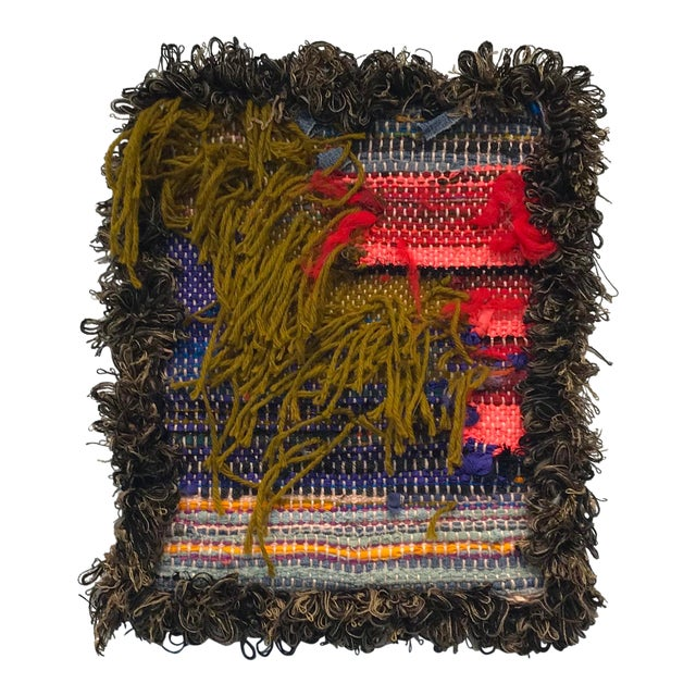 """Contemporary Hand Woven Tapestry """"Postulate 47"""" by Paulaschubatis For Sale"""