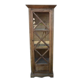 Chinese Wooden Glass Door Cabinet For Sale