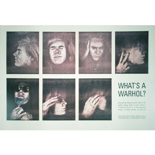 1990 What's a Warhol? Poster by Andy Warhol For Sale