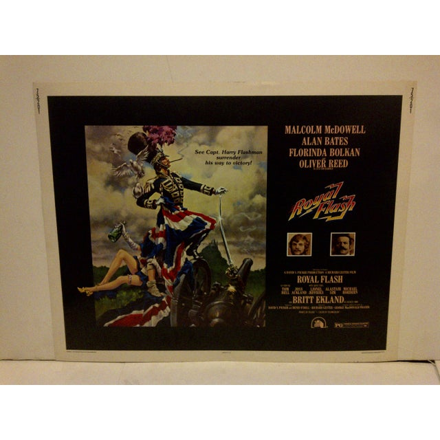 """Vintage movie poster for """"Royal Flash"""" starring Tom Bell and Britt Ekland. Numbered 75/201. Copyright 1975 - Twentieth..."""