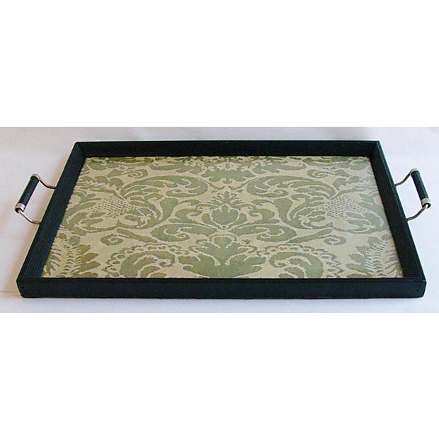 1930s Serving Tray W/ Italian Fortuny Fabric - Image 5 of 8