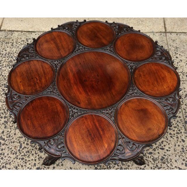 Wood 19th Century Georgian Mahogany Tilt-Top Breakfast Table For Sale - Image 7 of 13