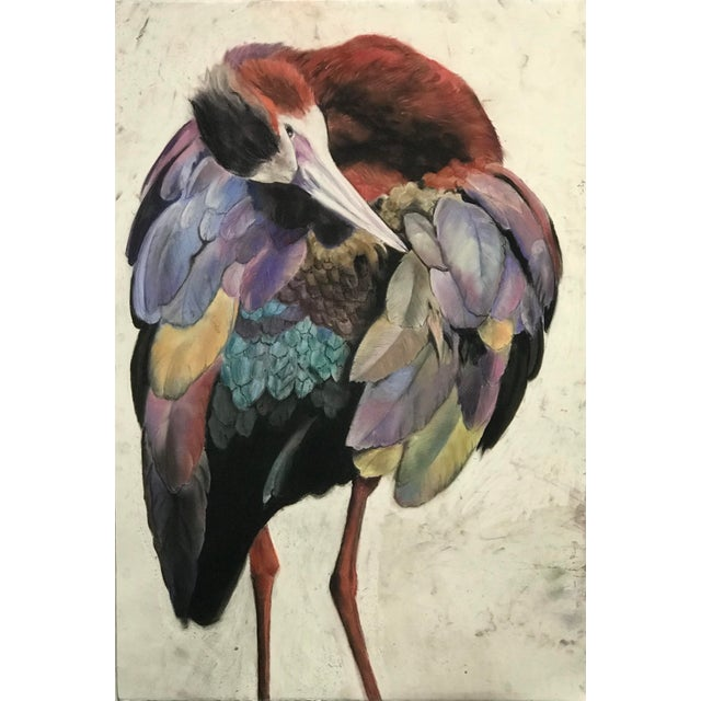 White Faced Ibis Contemporary Drawing For Sale