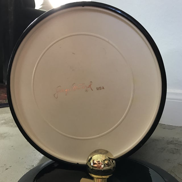 Georges Briard Georges Briard Black Patent Ice Bucket For Sale - Image 4 of 5