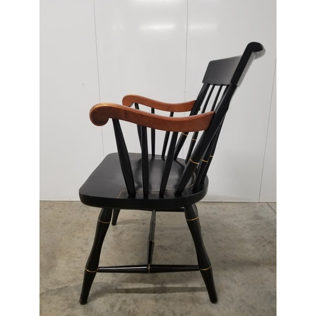 Americana Americana Nichols & Stone Princeton Windsor Chair For Sale - Image 3 of 9