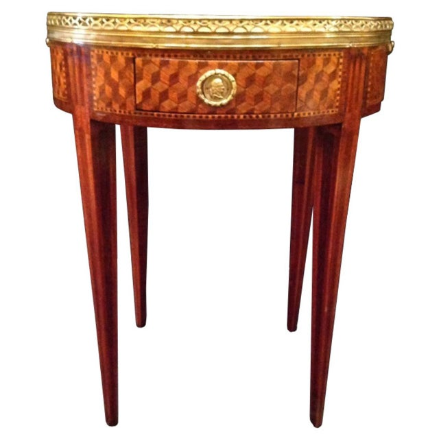 19th Century French Inlaid Bouillotte Table For Sale - Image 9 of 9