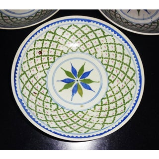 Antique Chinese/Singaporean Plate Bowls - Set of 3 Preview