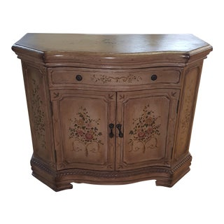 Shabby Chic Sarreid Hand Painted Two Door Commode For Sale