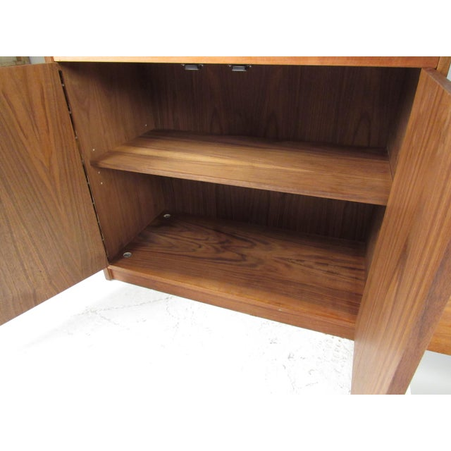 Brown Mid-Century Walnut Bookcase or Wall Unit For Sale - Image 8 of 13