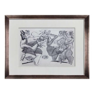 "1930s Vintage Le Corbusier Limited Edition ""Violences"" Lithograph Print For Sale"