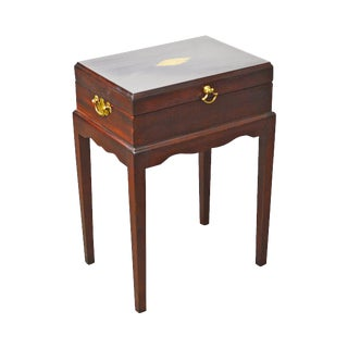 Madison Square Stickley Federal Style Mahogany Inlaid Silver Chest On