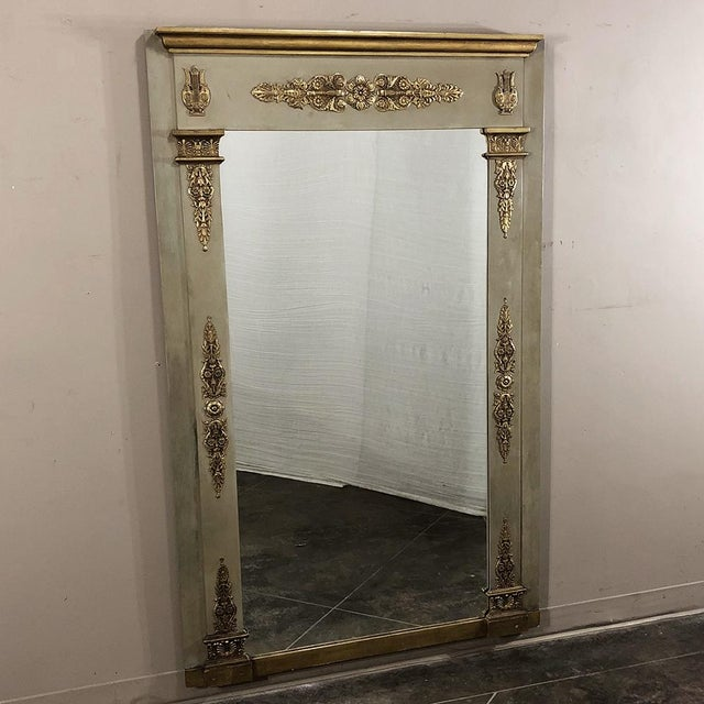 Empire 19th Century French Empire Painted Mirror For Sale - Image 3 of 13