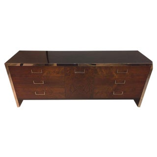 John Stuart / Milo Baughman Mid-Century Modern Double Commode Dresser Sideboard For Sale