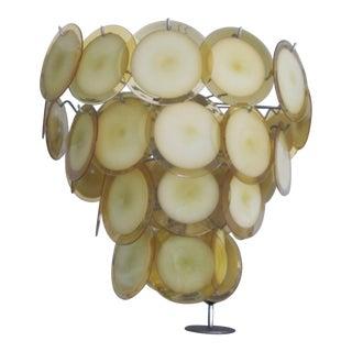 Mid-Century Modern Murano / Venetian Glass Disc Chandelier or Pendant by Vistosi