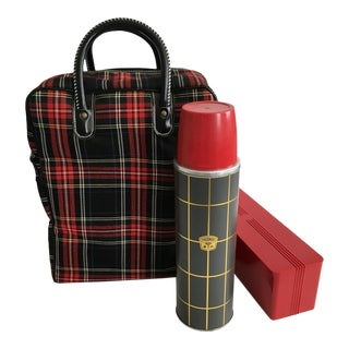 Thermos Tartan Plaid '50 Year Anniversary' Travel Set