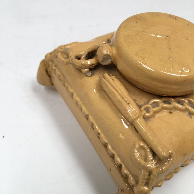 Antique Yellow Ware Match Striker For Sale - Image 5 of 10