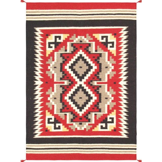 "Navajo Decorative Hand-Woven Rug - 4' X 5'11"" - Image 1 of 3"