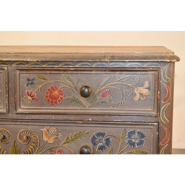 19th Century Painted Chest of Drawers For Sale - Image 9 of 10