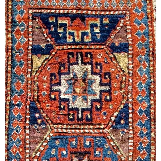 Traditional Caucasian Kazak Rug For Sale - Image 3 of 8