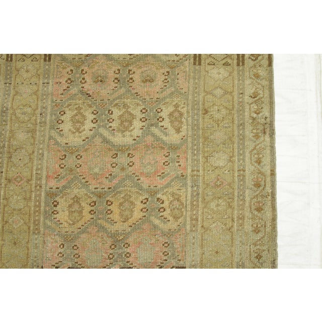 1920s Vintage Persian Kurdish Style Rug - 3′1″ × 9′3″ For Sale - Image 9 of 11