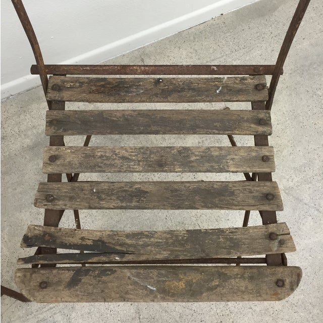 Vintage French Garden Chairs - Pair For Sale In Los Angeles - Image 6 of 7