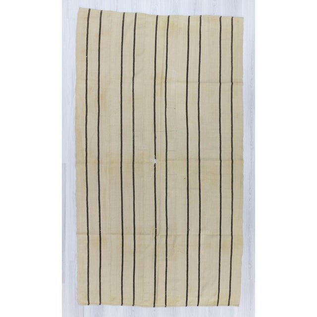 Handwoven striped kilim rug from Malatya region of Turkey.In good condition.Approximately 50-60 years old