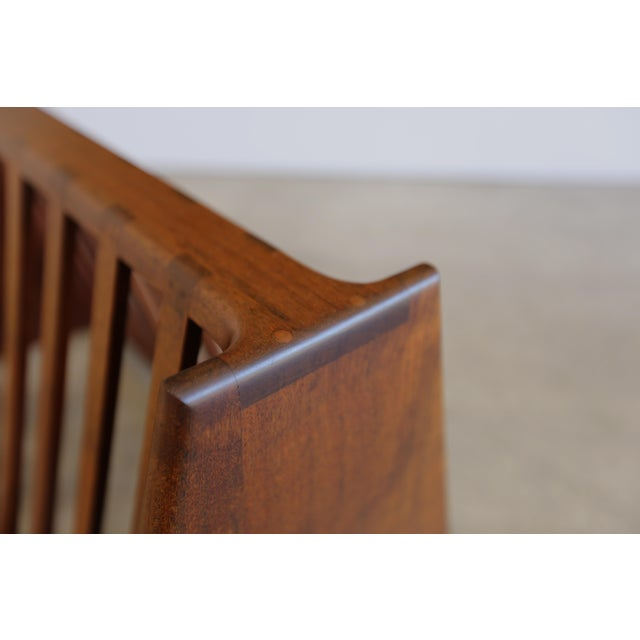 Mid 20th Century Mid 20th Century John Nyquist Handcrafted Shedua Wood Magazine Rack For Sale - Image 5 of 10
