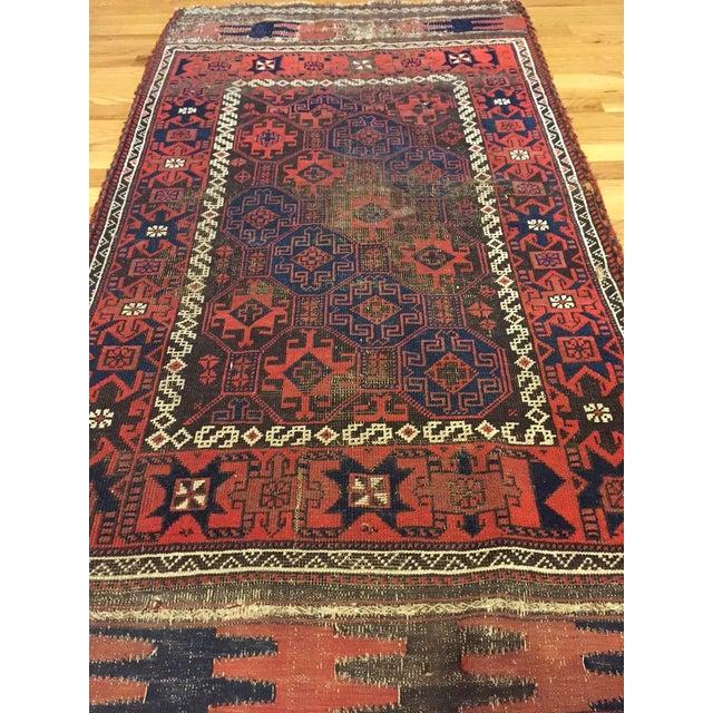 "Vintage Tribal Persian Rug - 3' x 5'10"" - Image 4 of 7"