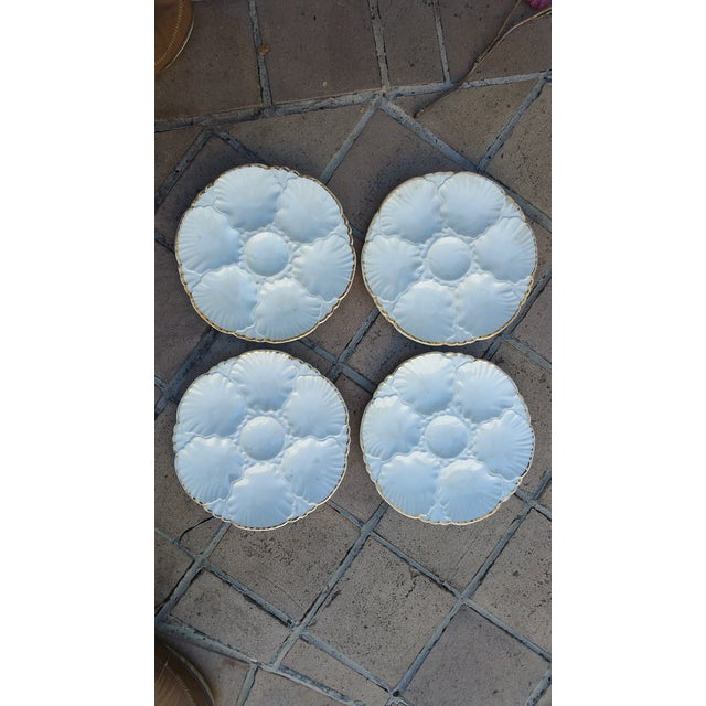 Antique French Oyster Plates - Set of 4 - Image 2 of 5