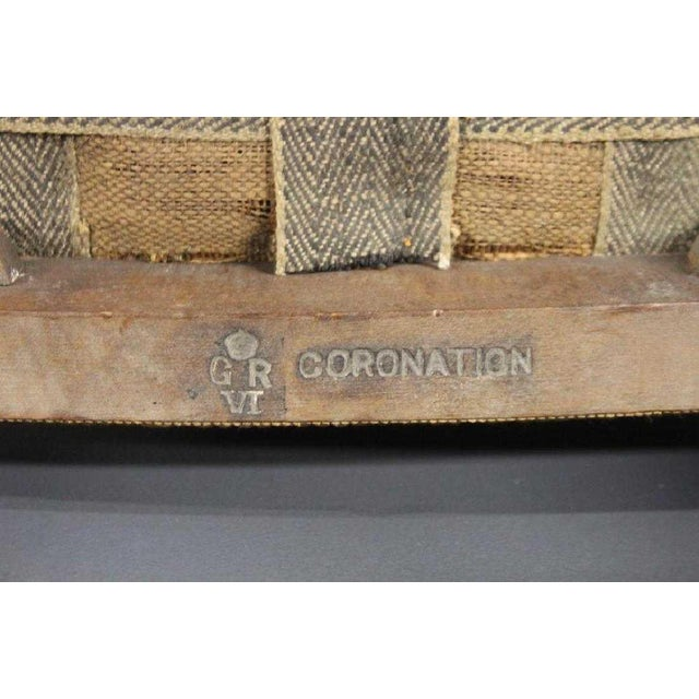 Shabby Chic Pair of 1930s George VI Coronation Stools For Sale - Image 3 of 6