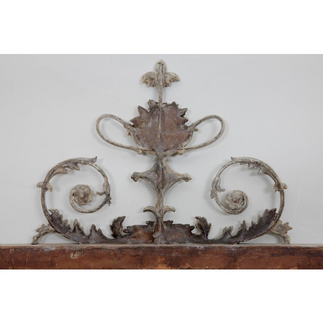 Antique English Neoclassical Scroll Motif Mirror For Sale In New York - Image 6 of 10