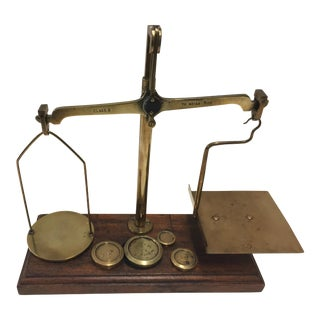 Antique Brass Scale For Sale