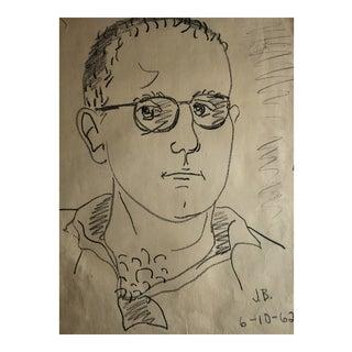 1962 Self Portrait by James Bone For Sale