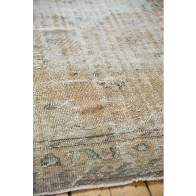 "Textile Vintage Distressed Oushak Carpet - 7'2"" X 10'1"" For Sale - Image 7 of 13"