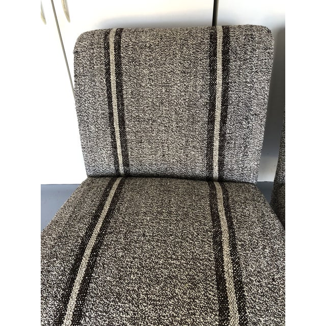 Pair of Upholstered Slipper Chairs For Sale - Image 9 of 9
