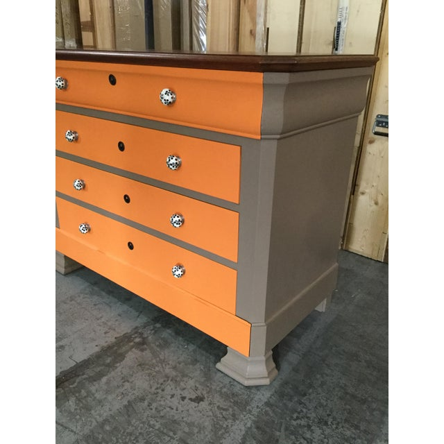 French French Painted Louis-Philippe Chest For Sale - Image 3 of 7