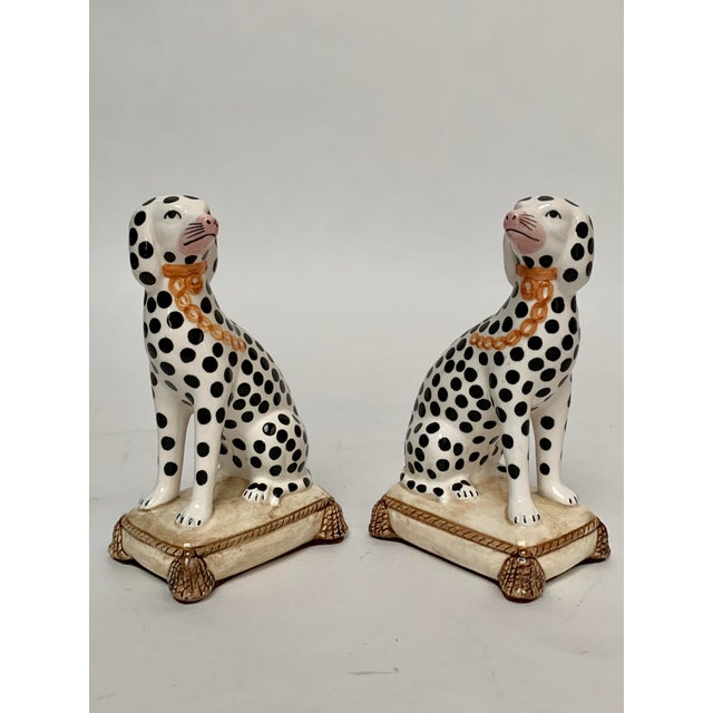 Staffordshire Staffordshire Style Porcelain Dalmatian Dog Bookends – a Pair For Sale - Image 4 of 8