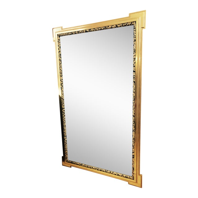 Deco Inspired 1980s Gold & Tiger Print Wall Mirror - Image 1 of 9