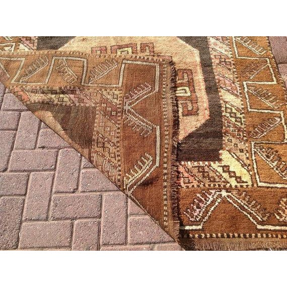 """Vintage Turkish Tribal Rug - 5'2"""" X 12'8"""" For Sale In Raleigh - Image 6 of 6"""