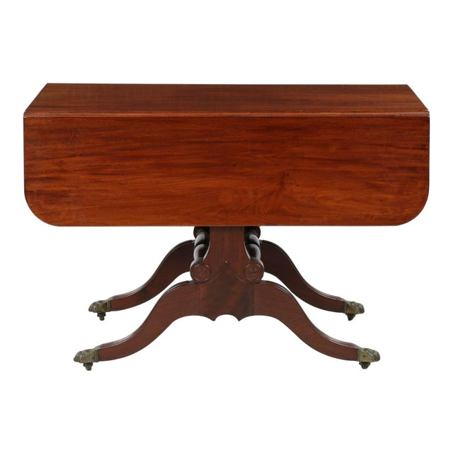 American Classical Mahogany Library Table - Image 1 of 11